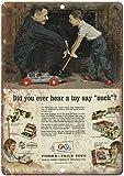 YelenaSign Fisher Price Toys Vintage Creative Untersetzer Retro Look Metallschild ZD30 20,3 x 30,5...