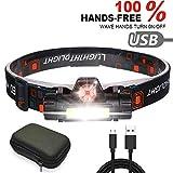 3000LM LED Scheinwerfer Taschenlampe Wiederaufladbare Scheinwerfer, XPE + COB USB-Kabel,...