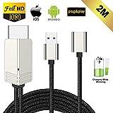 Kompatibel mit iPhone iPad Android Smartphone zu HDMI Kabel, FAERSI 1080P HD MHL HDMI Adapter fr...