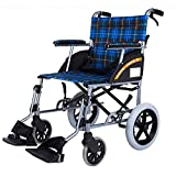 CHAIR Medizinischer Rehabilitationsstuhl, Rollstuhl, Leichter Klapprollstuhl Fahren Medizinisch,...