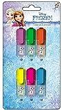 Eiskönigin Disney Frozen 6 Stück Textmarker, Leuchtmarker, Leuchtstifte in 6 Farben, super für...