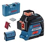 Bosch Professional Linienlaser GLL 3-80 (max. Arbeitsbereich: 30 m, 4x AA Batterie, im...
