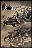 Schatzmix Retro Die Wehrmacht (Flugzeug/Bomber) Metallschild Wanddeko 20x30 cm Blechschild, Blech,...