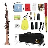 ammoon LADE WSS-899 Professionelle Red Bronze Muster Bb Sopransaxophon Saxophon Holzblasinstrument...
