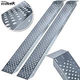 MASKO 2X Auffahrrampe 400kg | Verladerampe | Verladeschiene | verzinkter Stahl | Antirutsch | 200kg*...