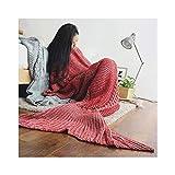 YLYWCG Handgemachte Gestrickte Mermaid Decke Klimaanlage Decke All Seasons Weich Und Warm Sleeping...