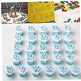 Romote Gummy Brief Formen, Biskuitform Buchstaben, 26 Gro- und Klein Keks Formen