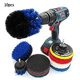 ZHAOSHOP Drill Brush,Bohrmaschine Bürstenaufsatz Reinigungsbürste Set Power Brush Set für...