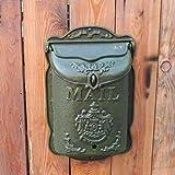 XINKONG Briefkasten Buchstabemagazin-Mailbox-Wandbehang des grünen Retro- Gusseisenkastens starker...