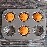 CMAKOKL Nonstick Pltzchen Pan-Backen-Kuchen-Form-Wanne Schokoladen-Form-Shell-Backen-Wannen (6...
