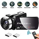 Camcorder Videokamera, FAERSI Full HD 1080P 30FPS 24MP IR Nachtsicht Digital Camcorder, 16X...