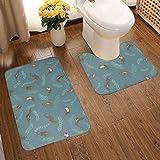 GFHIGFKJ Cute Lutra Bathroom Rug Sets 2 Piece U-Shape Contour Toilet Rug & Non Slip Microfiber Bath...