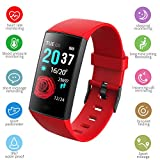 Family Homes Willful Smartwatch,Touch-Display Fitness Armbanduhr mit Pulsuhr Fitness Tracker IP67...