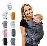 Fastique Kids Tragetuch - elastisches Babytragetuch für Früh- und Neugeborene inkl. Baby Wrap...