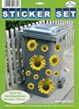 My Home Mlltonnen-Sticker'Sonnenblumen'
