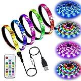 ERCZYO LED-Licht mit USB-Regenbogenfarben LED-Streifen mit LED-TV-Hintergrundbeleuchtung mit...