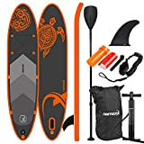 Nemaxx PB300 Stand up Paddle Board 300x76x15cm, orange/anthrazit - SUP, Surfbrett, Surf-Board -...