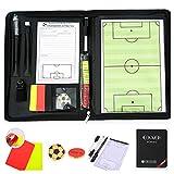 CHSEEA Fußball Taktikmappe mit Reißverschluss, Taktiktafel Fussball Coach-Board Coach Mappe für...