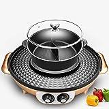 N/A ECSWP Elektro-Grill Herd Haushaltselektrogrill Maschine Indoor Hot Pot Barbecue Roasting One Pot...