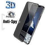 Sichtschutzfolie, matt, gehärteter Rahmen, Anti-Spioning, blasenfrei, kompatibel mit iPhone, iphone...