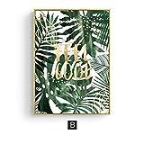 Nordic Style Aquarell Green Leaf Wandkunst Leinwand Malerei Modern Plant Poster Ananas Kaktus Print...