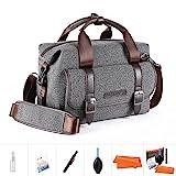 K&F Concept Kameratasche Messenger Tasche Fototasche für eine Systemkamera und Zwei Objektiv M...
