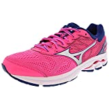 Mizuno Women's Wave Rider 21 Pink/Silver Blue Ankle-High - 6M