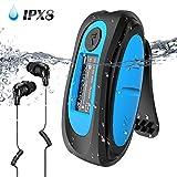 IPX8 Wasserdicht MP3 Player, 8GB HiFi MP3 Musik Player zum Schwimmen und Laufen, mit wasserdicht...