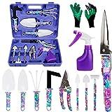 HANXIN 11 Stück Maurerkelle Handschuhen, Schere Hecke Anti-Rustspray und Box, Gartenhandwerkzeug...