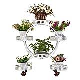 ChangDe - Blumenstnder Flower Stand - Europische 4-Schicht-Rolleisen Standfu Retro Montiert...