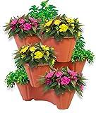 UPP Pflanzturm mit stapelbaren Pflanztpfen | Vertikaler Garten mit 3 Etagen | Platzsparend fr bis zu...