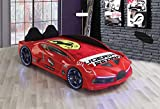 Super Car Bed Racing Frame Moon Model Electric Start Remote and Sound with Cool Spoiler, Kids Car...