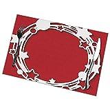 hdyefe Tischsets 6er-Set für Esstisch, Weihnachts-Ostern und Weihnachts-Tischsets Roter und weißer...