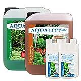 AQUALITY Aquarium Pflanzen-Pflege 2er-Sparset (GRATIS Lieferung in DE - Enthält Pflanzendünger mit...