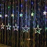 Garden Star Led-Licht, Curtain Star Fairy String Lampe Geeignet Für Schlafzimmer Wohnzimmer...