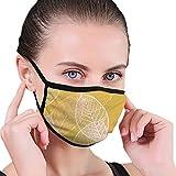 Mask Seamless Ornamental Pattern Mit Blättern Gesichtsmaske Anti-Staub-Unisex-Baumwollmaske