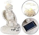 Lunartec Grabengel: Schutzengel-Figur mit Solar-LED-Licht, 7 LEDs, 20 cm, IP44 (Engel Solar)