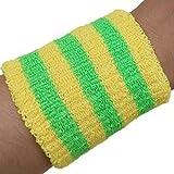 yanqiu Sport-Armband, atmungsaktiv, warm, Regenbogenfarben, weiche Baumwolle, für Laufen, Fitness,...