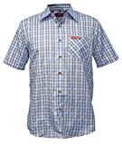 Fifty Five Hemd Herren Kurzarm Andre lightblue karriert XL Wanderhemd Funktions Shirt Freizeithemd...