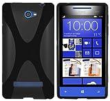 mumbi Hülle kompatibel mit HTC Windows Phone 8S Handy Case Handyhülle, schwarz