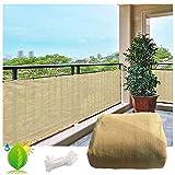 Balkon Sichtschutz Schutz Deck Sichtschutz Dauerhafter Wind- Und UV-Schutz Atmungsaktives...