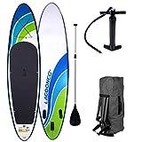 SUP Board Stand up Paddling Surfboard'Speed' 320x76x15cm aufblasbar Alu-Paddel Hochdruck-Pumpe...