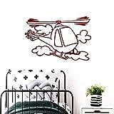 BailongXiao Farbe Flugzeug umweltfreundliche Vinyl-Aufkleber für Kinderzimmer Dekoration Dekoration...