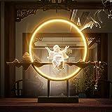 NAN Kaskadenbrunnen, Zen-Ähnliche Wasserfalldekoration Mit Fischteich Und LED-Beleuchtung, 48.3 *...