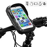 Iwinna Fahrrad-Handyhalterung, wasserdichte Fahrradlenkertasche mit Touchscreen-Fenster fr iPhone XS...
