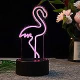 Sproud Flamingo 3D Nachtlicht   Bedside Atmosphere Light   LED Tischleuchte   USB Bunte Touch Kids...