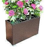 KAISIMYS Rattan Blumenkasten Balkon Outdoor Blumenregal Blumentopf Wohnzimmer American Bonsai Frame...