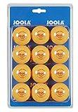 JOOLA Tischtennis-Blle Training 40mm, Orange 12er Blister Pack
