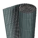 [neu.haus] PVC Sichtschutzmatte (90x300cm) (grau) Sichtschutz / Windschutz / Gartenzaun / Balkon...