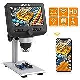 WiFi LCD Mikroskop, ZOTO 4,3 Zoll 1080P Full HD Digital Mikroskop Kamera, 1000X Vergrößerung...